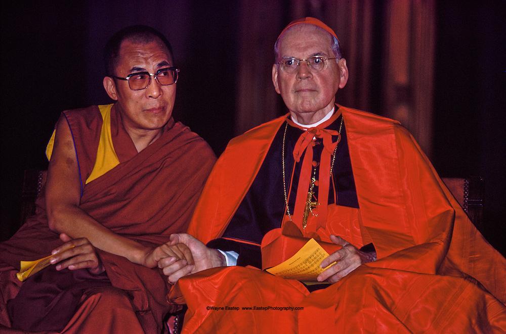 Dalai Lama & Cardinal Cooke at St. Patrick's Cathedral, New York, NY, Dalai Lama's first visit to the United States.