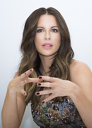 November 11, 2016 - Hollywood, California, U.S. - KATE BECKINSALE promotes the movies 'Underworld: Blood Wars' 'Love & Friendship' 'The Disappointments Room.' Kathrin Romary 'Kate' Beckinsale (born 26 July 1973) is a British actress. She made her film debut in Much Ado About Nothing (1993) while still a student at the University of Oxford. She then appeared in British costume dramas such as Prince of Jutland (1994), Cold Comfort Farm (1995), Emma (1996), and The Golden Bowl (2000), in addition to various stage and radio productions. She began to seek film work in the United States in the late 1990s and, after appearing in small-scale dramas The Last Days of Disco (1998) and Brokedown Palace (1999), she had a break-out year in 2001 with starring roles in the war drama Pearl Harbor and the romantic comedy Serendipity. She built on this success with appearances in The Aviator (2004) and Click (2006) as Selene in the Underworld film series (from 2003 to 2016). Spouse(s) Len Wiseman (m. 2004; div. 2016) Partner(s) Michael Sheen (1995–2003) Children 1 (Lily). Upcoming releases: The Only Living Boy in New York (2017), Underworld: Blood Wars (2016). (Credit Image: © Armando Gallo/Arga Images via ZUMA Studio)