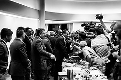 Matteo Salvini at the press room of Viminale palace, headquarters ofMinistry of Interiors. Rome 19 September 2018. Christian Mantuano / OneShot