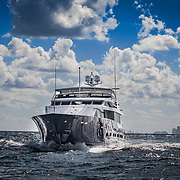 Drone photo of Yacht underway Drone photography