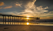 Scripps Memorial Pier At Sunset In La Jolla