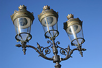 Parisian lamps near Notre-Dame, Paris, France<br />