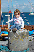 Cillian O Donoghuhe on the pier at Parkmore during  the Crinniu na mBad (Gathering of the boats) Festival  in Kinvara Co. Galway at the weekend featuring Galway hookers racing across the bay. Photo:Andrew Downes.