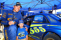 AUTO - WRC 2003 - CYPRUS RALLY -  20030622 - PETTER SOLBERG (NOR) / SUBARU IMPREZA WRC - AMBIANCE - PORTRAIT<br />PHOTO : ERIC VARGIOLU /DIGITALSPORT