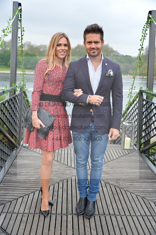SPENCER MATTHEWS and MORGANE ROBART at a party to launch the Taylor Morris Explorer Collection held at the Serpentine Lido, Hyde Park, London on 11th May 2016.