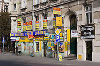 shop in Krakow with internet lotto and other signs in Polish