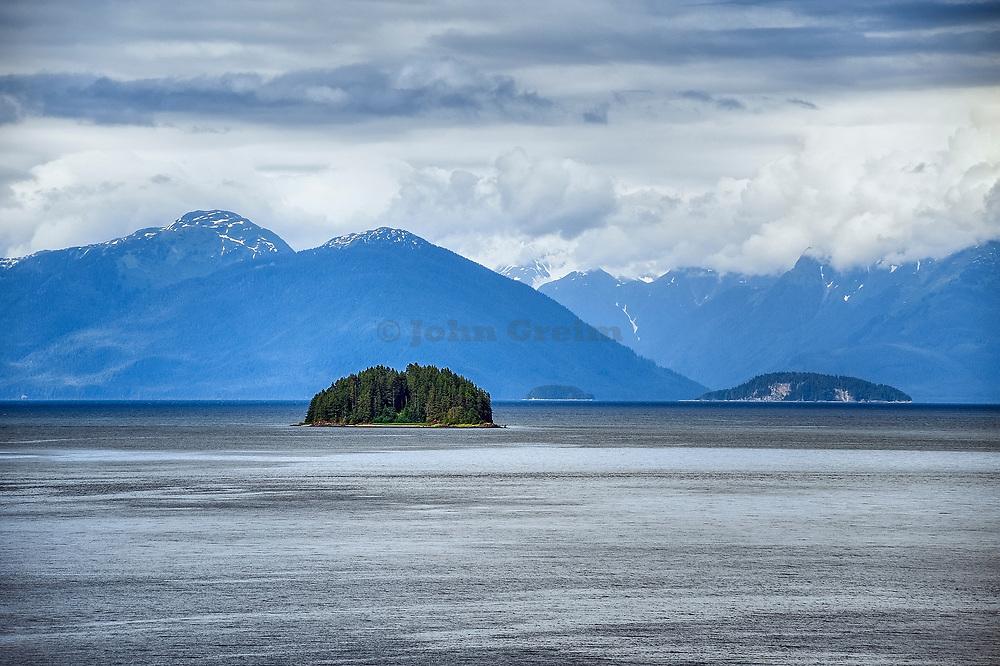 Halibut island, Icy Strait, Alaska, USA.