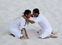 FIFA BEACH SOCCER WORLD CUP 2008 PORTUGAL - SPAIN  27.07.2008 BELCHIOR (l) and ALAN (POR) celebrate after beating Spain.