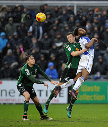 Ellis Harrison of Bristol Rovers is challenged by Murray Wallace of Scunthorpe United - Mandatory by-line: Neil Brookman/JMP - 25/02/2017 - FOOTBALL - Memorial Stadium - Bristol, England - Bristol Rovers v Scunthorpe United - Sky Bet League One