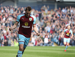 Chris Wood of Burnley celebrates after scoring his sides first goal - Mandatory by-line: Jack Phillips/JMP - 14/04/2018 - FOOTBALL - Turf Moor - Burnley, England - Burnley v Leicester City - English Premier League