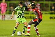Forest Green Rovers Matty Stevens(9) on the ball  during the EFL Trophy match between Forest Green Rovers and U21 Southampton at the New Lawn, Forest Green, United Kingdom on 3 September 2019.