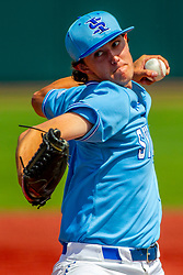 25 May 2019:  Austin Moralis. Missouri Valley Conference Baseball Tournament - Dallas Baptist Patriots v Indiana State Sycamores at Duffy Bass Field in Normal IL<br /> <br /> #MVCSPORTS