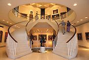 Museo de Arte de Puerto Rico, main lobby and staircase to galleries; San Juan, Puerto Rico.