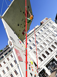 31.07.2015, Mariahilfer Straße, Wien, AUT, ISFC, Free Solo Masters MAHÜ, Vorqualifikation, im Bild Daniel Spiroch // during the prequalification of the ISFC Free Solo Masters MAHÜ at the Mariahilfer Straße in Vienna, Austria on 2015/07/31. EXPA Pictures © 2015, PhotoCredit: EXPA/ Sebastian Pucher