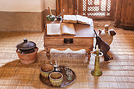 Writing place of student in the Medersa Ben Youssef in Marrakech.