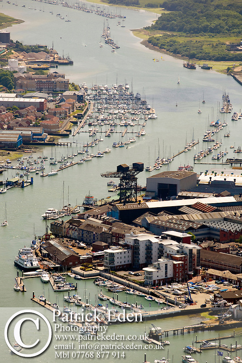 Aerial, Harbour, River Medina, Marina, Cowes, Isle of Wight, UK, Photographs of the Isle of Wight by photographer Patrick Eden photography photograph canvas canvases
