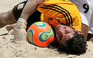 Footbal-FIFA Beach Soccer World Cup 2006 -  Quarter Final-ARG xURU -Salgueiro-Rio de Janeiro- Brazil - 09/11/2006.<br />Mandatory Credit: FIFA/Ricardo Ayres