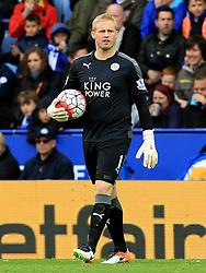 Kasper Schmeichel of Leicester City  - Mandatory by-line: Matt McNulty/JMP - 24/04/2016 - FOOTBALL - King Power Stadium - Leicester, England - Leicester City v Swansea City - Barclays Premier League