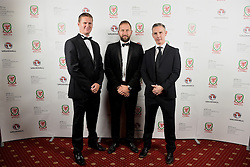 CARDIFF, WALES - Monday, October 5, 2015: xxxx, Ian Davis and xxxx during the FAW Awards Dinner at Cardiff City Hall. (Pic by Pete Thomas/Propaganda)