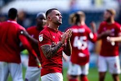 Jack Hunt of Bristol City celebrates victory over Hull City - Mandatory by-line: Robbie Stephenson/JMP - 24/08/2019 - FOOTBALL - KCOM Stadium - Hull, England - Hull City v Bristol City - Sky Bet Championship
