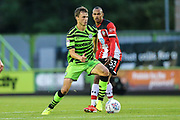 Forest Green Rovers James Morton(15) on the ball  during the EFL Trophy match between Forest Green Rovers and U21 Southampton at the New Lawn, Forest Green, United Kingdom on 3 September 2019.
