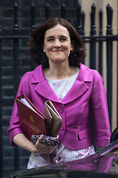 Downing Street, London, June 14th 2016. Northern Ireland Secretary Theresa Villiers leaves 10 Downing Street after attending the weekly cabinet meeting.