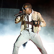 Kanye West performs at Essence Music Festival on July 4, 2008, in New Orleans, LA.