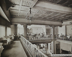© Licensed to London News Pictures. 10/10/2013. A Grade-II listed former theatre in Woolwich is being restored to its former glory by a London based church. This photo of the foyer balcony comes from a promotional brochure produced at the time of its opening in 1937. Photo used with permission of Greenwich Heritage Centre. More copy at: http://www.greenwich.co.uk/woolwichgranada.txt  Credit : Rob Powell/LNP