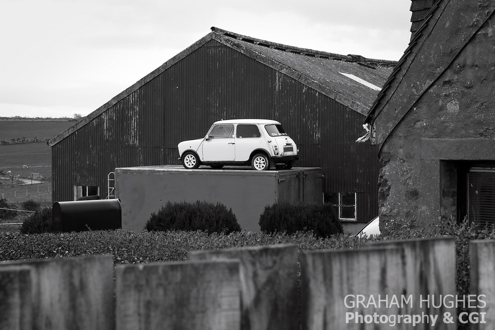 Classic Mini On Rooftop