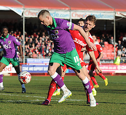Bristol City's Aaron Wilbraham controls the ball under pressure - Photo mandatory by-line: Dougie Allward/JMP - Mobile: 07966 386802 - 07/03/2015 - SPORT - Football - Crawley - Broadfield Stadium - Crawley Town v Bristol City - Sky Bet League One