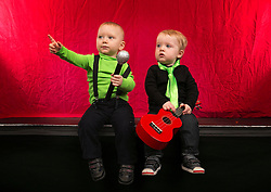Repro Free: 12/11/2013 Pictured at Spotify Ireland's first birthday party are 1 year olds Conn Fitzgerald and Fionn Evans. Since the service launched into the Irish market, users of the service have streamed over 1500 years' worth of music! Picture Andres Poveda