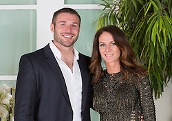 LONDON- UK- 01-MAY- 2014: Ben Cohen Foundation Ball held at the Hurlingham Club in London. Several members of the Strictly Dancing competitors attend in aid of his charity.<br /> Ben Cohen with wife Abbie<br /> Photograph by Ian Jones&copy;.