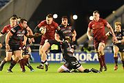 Rory Scannell on the ball during the Guinness Pro 14 2017_18 match between Edinburgh Rugby and Munster Rugby at Myreside Stadium, Edinburgh, Scotland on 16 March 2018. Picture by Kevin Murray.