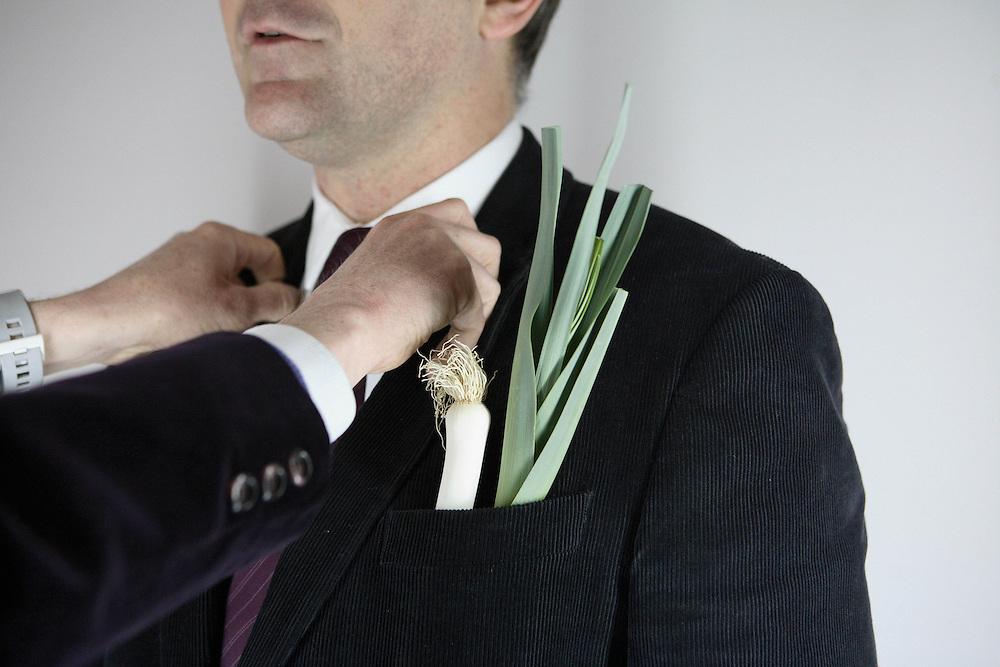 la meritocratie, les decorations : recevoir le merite agricole, le poireau.