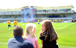 Fans look on during the training session at the fun day - Photo mandatory by-line: Dougie Allward/JMP - Tel: Mobile: 07966 386802 21/07/2013 - SPORT - FOOTBALL - Bristol -  Bristol Rovers Fun Day