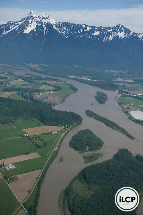 Fertile soil in the Fraser Valley is intensively farmed.