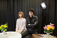 Professor Hiroshi Ishiguro och hans robot ERICA: ERATO ISHIGURO Symbiotic Human-Robot Interaction Project  <br />