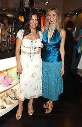Left to right, Designer LINA BOTERO daughter of Columbian painter Fernando Botero and ALLEGRA HICKS at a party to launch the Acqualuna jewellery exhibition at Allegra Hicks, 28 Cadogan Place, London on 22nd June 2005.<br /><br />NON EXCLUSIVE - WORLD RIGHTS