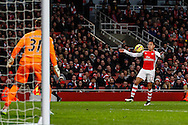 Alexis Sanchez of Arsenal (right) on the attack as Jak Alnwick of Newcastle United (left) looks on during the Barclays Premier League match at the Emirates Stadium, London<br /> Picture by David Horn/Focus Images Ltd +44 7545 970036<br /> 13/12/2014