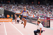 Shara Proctor in the Long Jump during the Sainsbury's Anniversary Games at the Queen Elizabeth II Olympic Park, London, United Kingdom on 25 July 2015. Photo by Phil Duncan.