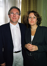 MR TREVOR HORN the leading record producer and his wife JILL SINCLAIR finalist and M/D of the SPZ Group, at a reception in London on 29th April 1998.MHF 68