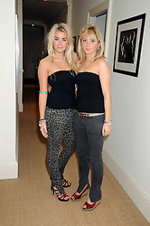 Left to right, EMILY MOULTON and BELLA BENSON at the launch party of Ingrid Seward's new book 'William & Harry - The People's Princes' held at 47 Hornton Court West, London W8 on 7th October 2008.