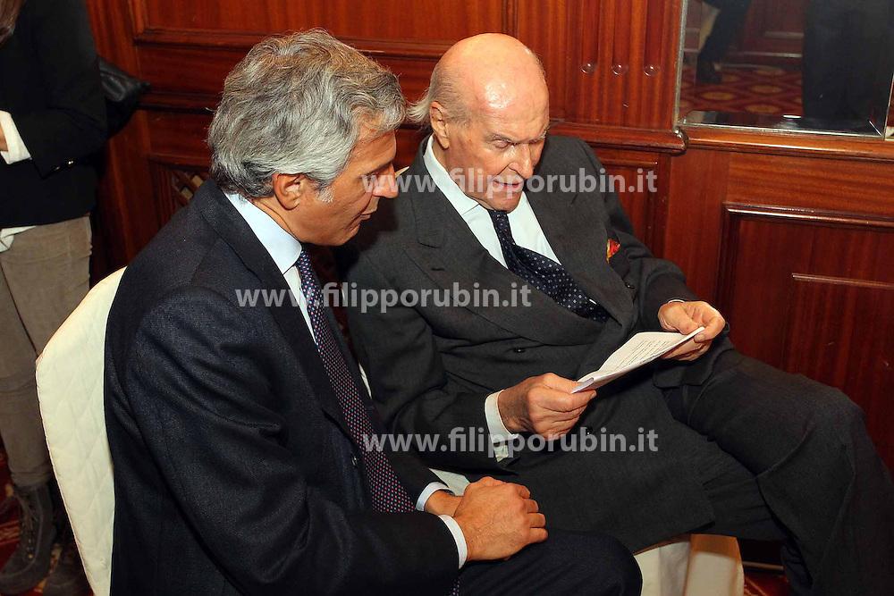 VERONESI UMBERTO CON IL FIGLIO PAOLO.MILANO 26-11-2012.FOTO FILIPPO RUBIN