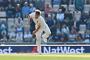 Sam Curran of England bowling during day two of the fourth SpecSavers International Test Match 2018 match between England and India at the Ageas Bowl, Southampton, United Kingdom on 31 August 2018.