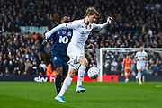 Leeds United forward Patrick Bamford (9) in action during the EFL Sky Bet Championship match between Leeds United and Blackburn Rovers at Elland Road, Leeds, England on 9 November 2019.