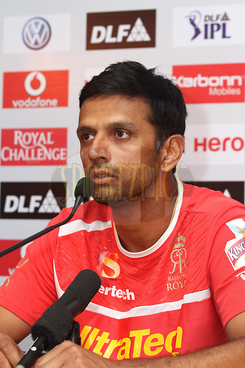 Rajasthan Royals captain Rahul Dravid during the post match press conference after match 48 of the the Indian Premier League (IPL) 2012  between The Kings X1 Punjab and The Rajasthan Royals held at the Punjab Cricket Association Stadium, Mohali on the 5th May 2012..Photo by Shaun Roy/IPL/SPORTZPICS