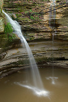Waterfall in Ottawa Canyon of Starved Rock State Park Illinois USA