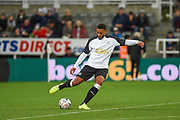 Joelinton of Newcastle United warming up before the The FA Cup third round replay match between Newcastle United and Rochdale at St. James's Park, Newcastle, England on 14 January 2020.