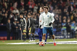 February 20, 2019 - Madrid, Spain - Antonie Griezmann (Atletico de Madrid)  Pre-match warm-up   UCL Champions League match between Atletico de Madrid vs Juventus at the Wanda Metropolitano stadium in Madrid, Spain, February 20, 2019  (Credit Image: © Enrique De La Fuente/NurPhoto via ZUMA Press)