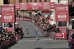 March 9, 2019 - Siena, Italia - Foto Gian Mattia D'Alberto / LaPresse.09-03-2019 Siena.Sportciclismo.Gara ciclistica Strade Bianche 2019 .nella foto: Jakob Fuglsang (Dan, Astana), il vincitore Julian ALAPHLIPPPE (Fra, Deceuninck-QuickStep)..Photo Gian Mattia D'Alberto  / LaPresse.2019-03-09 SienaSportCycling.Strade Bianche 2019 .in the photo: Jakob Fuglsang (Dan, Astana) the winner Julian ALAPHLIPPPE  (Credit Image: © Gian Mattia D'Alberto.Gm D&Quot/Lapresse via ZUMA Press)